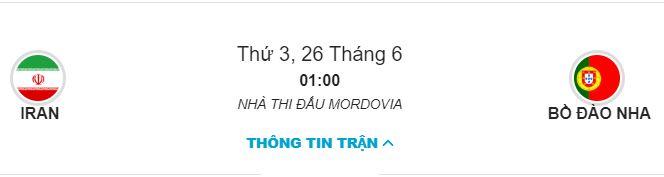 Soi keo Iran vs Bo Dao Nha bang B ngay 26/06 luc 1h00 hinh anh 1