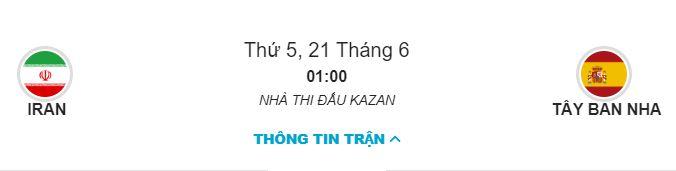 Soi keo Iran vs Tay Ban Nha 1h00 ngay 21/06 bang B chinh xac nhat hinh anh