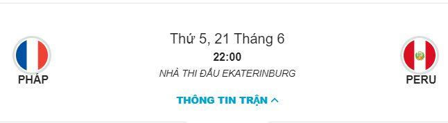 Soi keo Phap vs Peru 22h00 ngay 21/06 bang C hinh anh