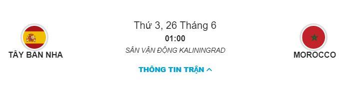 Soi keo Tay Ban Nha vs Ma Roc 26/06 luc 1h00 hinh anh