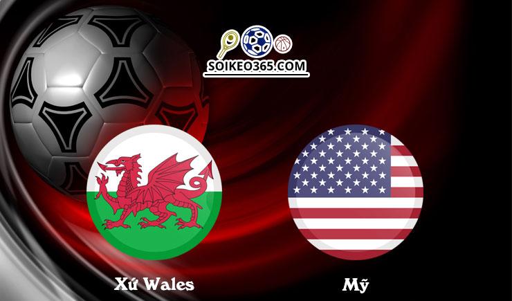 Soi kèo Xứ Wales vs Mỹ