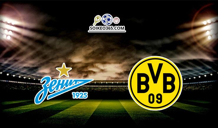 Soi kèo Zenit Petersburg vs Dortmund