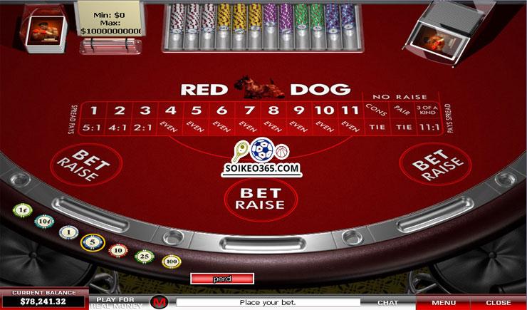 Cách chơi Red Dog